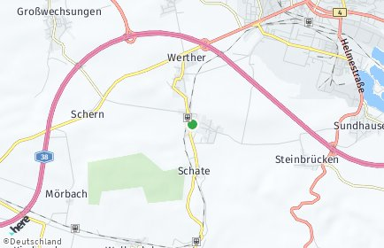 Stadtplan Werther (Thüringen)