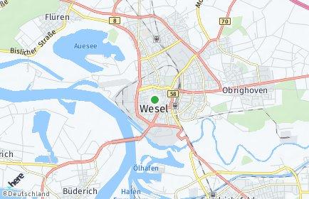 Stadtplan Wesel