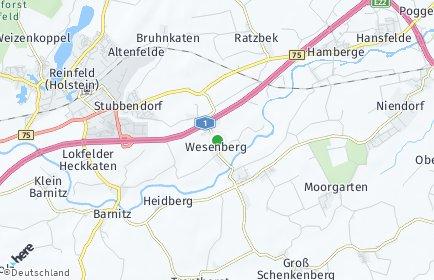 Stadtplan Wesenberg (Holstein)