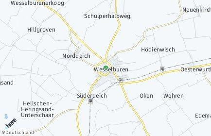 Stadtplan Wesselburen
