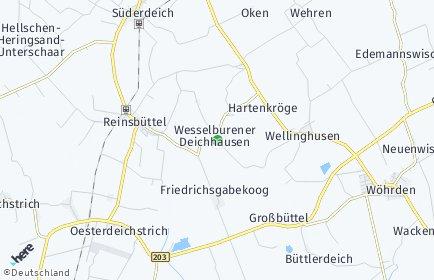 Stadtplan Wesselburener Deichhausen