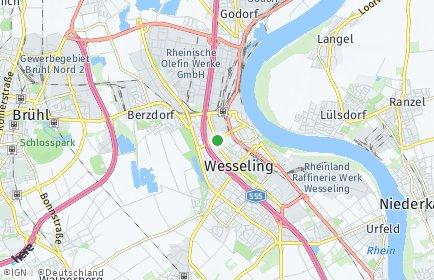 Stadtplan Wesseling