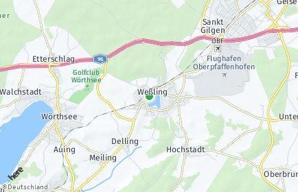 Stadtplan Weßling