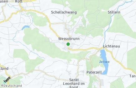 Stadtplan Wessobrunn