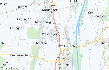 Stadtplan Westendorf (Kreis Augsburg)