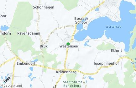 Stadtplan Westensee