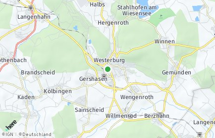 Stadtplan Westerburg