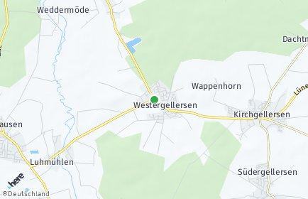 Stadtplan Westergellersen