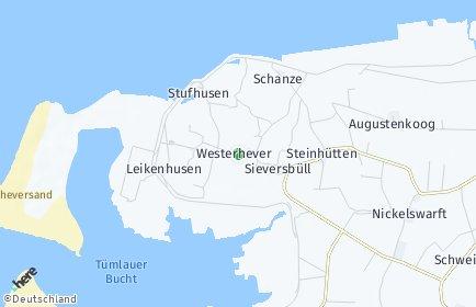 Stadtplan Westerhever