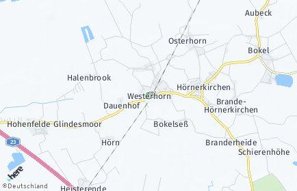 Stadtplan Westerhorn