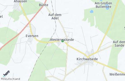 Stadtplan Westerwalsede