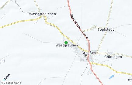 Stadtplan Westgreußen