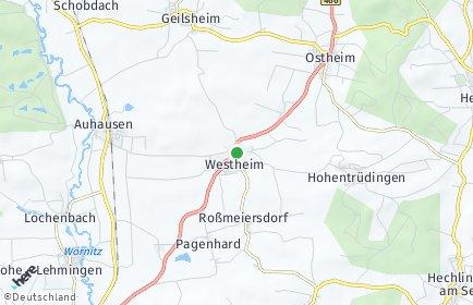 Stadtplan Westheim (Mittelfranken)