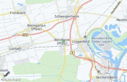 Stadtplan Westheim (Pfalz)