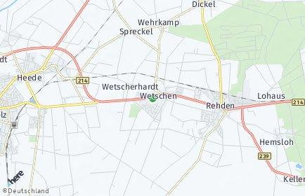 Stadtplan Wetschen