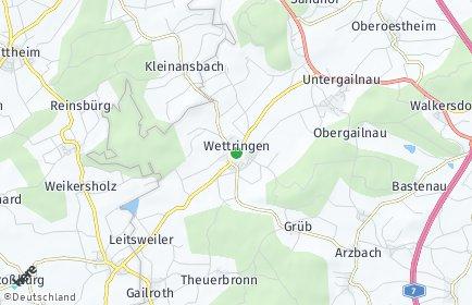 Stadtplan Wettringen (Mittelfranken)
