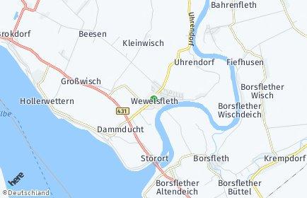 Stadtplan Wewelsfleth