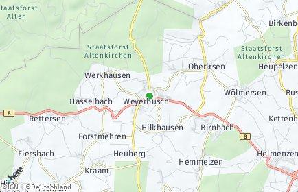 Stadtplan Weyerbusch