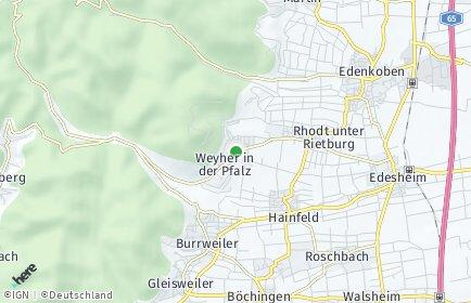 Stadtplan Weyher in der Pfalz