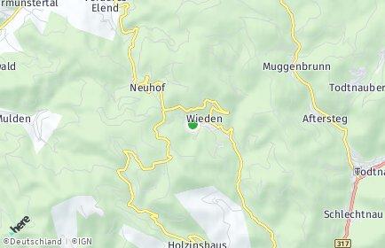 Stadtplan Wieden (Schwarzwald)