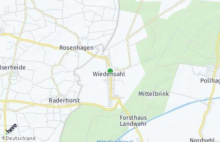 Stadtplan Wiedensahl