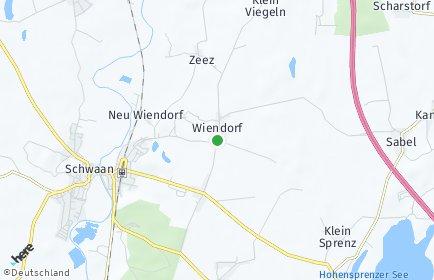 Stadtplan Wiendorf (Mecklenburg)