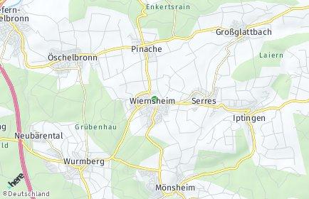 Stadtplan Wiernsheim