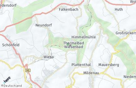 Stadtplan Thermalbad Wiesenbad