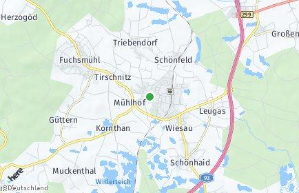 Stadtplan Wiesau