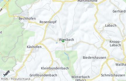 Stadtplan Wiesbach