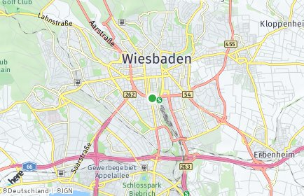 Stadtplan Wiesbaden OT Biebrich