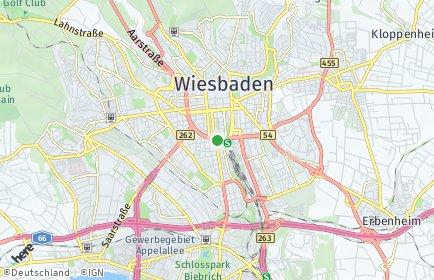 Stadtplan Wiesbaden OT Sonnenberg