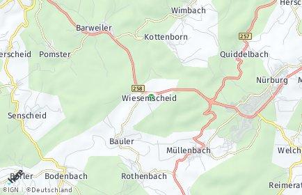 Stadtplan Wiesemscheid