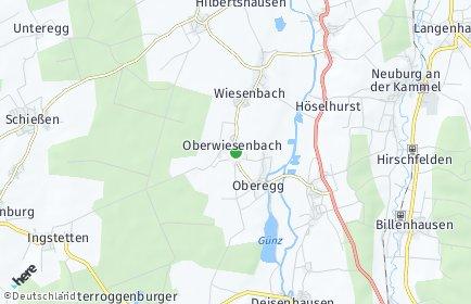Stadtplan Wiesenbach (Schwaben)