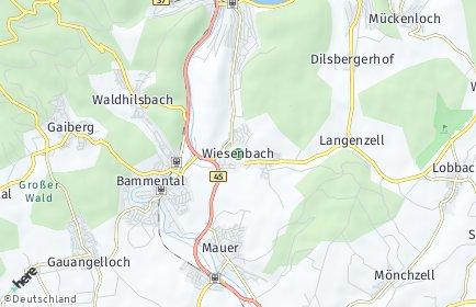 Stadtplan Wiesenbach (Baden)