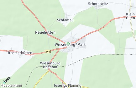 Stadtplan Wiesenburg/Mark