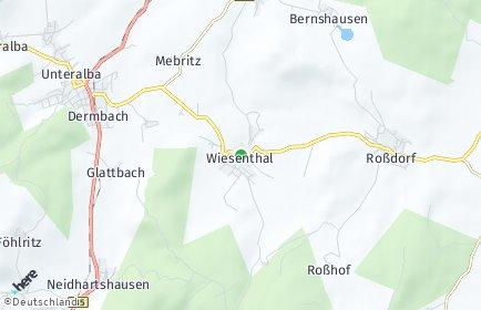 Stadtplan Wiesenthal (Thüringen)