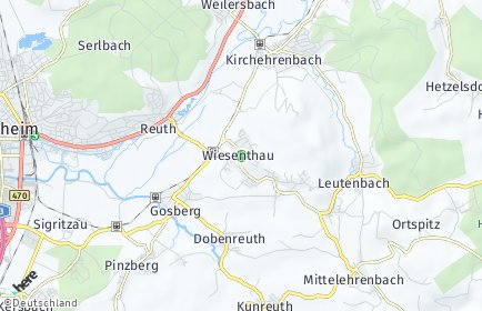 Stadtplan Wiesenthau