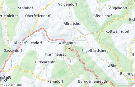 Stadtplan Wiesenttal