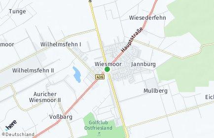 Stadtplan Wiesmoor
