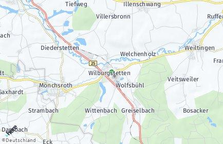 Stadtplan Wilburgstetten