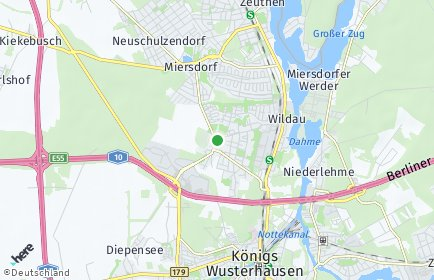 Stadtplan Wildau