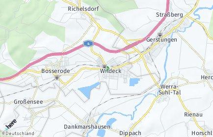 Stadtplan Wildeck