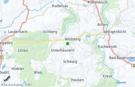 Stadtplan Wildsteig
