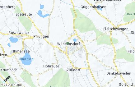 Stadtplan Wilhelmsdorf (Württemberg)