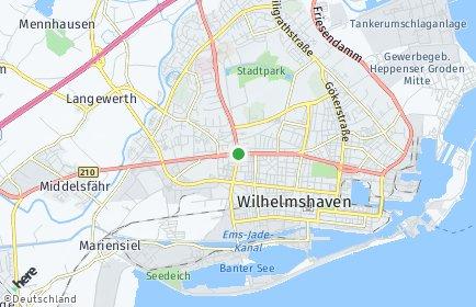 Stadtplan Wilhelmshaven OT Fedderwardergroden