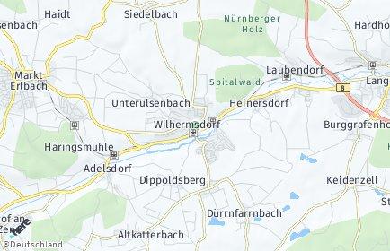 Stadtplan Wilhermsdorf