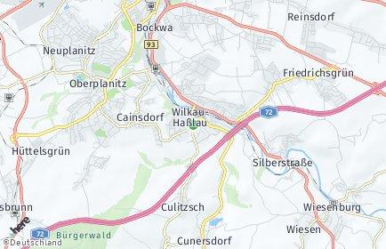 Stadtplan Wilkau-Haßlau