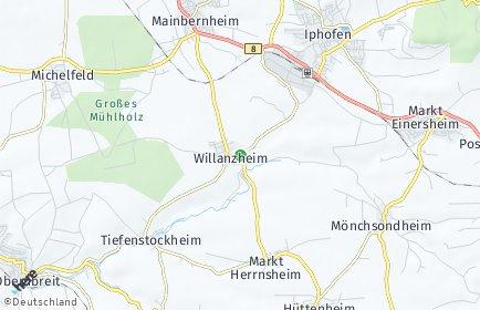 Stadtplan Willanzheim