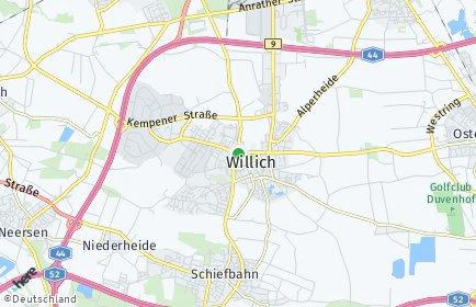 Stadtplan Willich